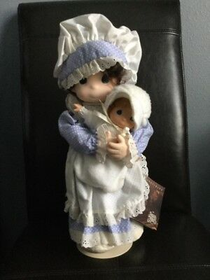 """Precious Moments Janet and Baby Sarah I love you series 16"""" doll 1992, Rare"""
