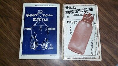 2....Old Ghost Town Bottle Price Guide & Bottle Magazine 1969 & 1966