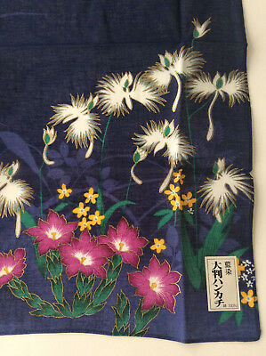 Japanese Aizome Indigo Fabric BeautifulTraditional HandKerchief scarf cloth NEW