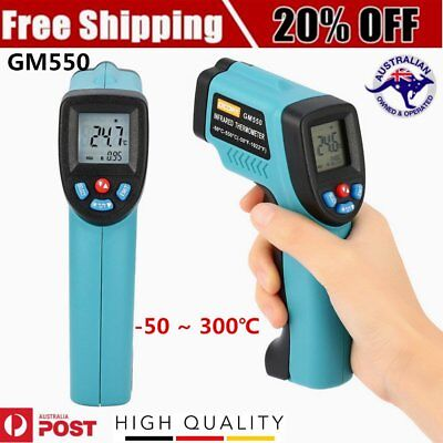 OCDAY GM550 Digital Infrared Thermometer Laser Temperature Gun Pyrometer LED Bac