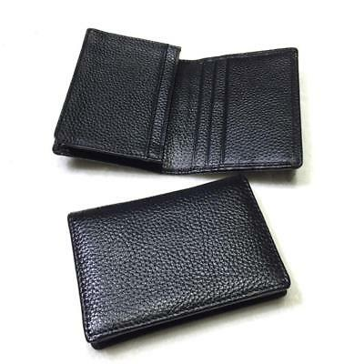 Mens Expandable Leather Credit/Business Card Holder And ID Flap Wallet #