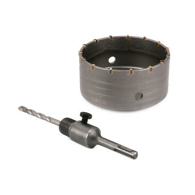 Cement Bricks 125mm Wall Hole Saw Drill Bit & 110mm Connect Rod Round Shank Kit