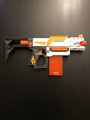 NERF N-strike RECON MKII - Used STOCK, BARREL ATTACHMENT AND MAGAZINE INCLUDED
