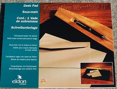 LOT OF (4) Eldon Rolodex Executive Woodline II Desk Pads in Cherry