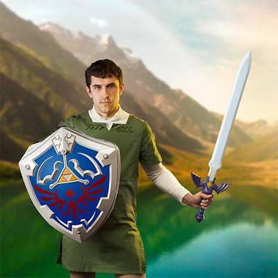 Legend of Zelda Hylian Shield bag backpack & Foam Master Sword Nintendo NEW