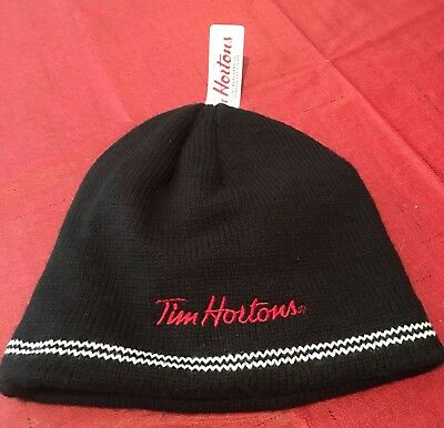 TIM HORTONS Knit Beanie Hat 2012 Unisex Heart Tims - NWT Love Tim's Coffee Adult