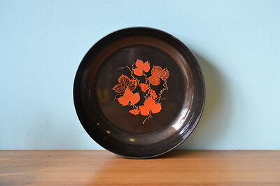 Retro plastic bowl Japan Japanese vintage maple leaves  chip serving table 70s