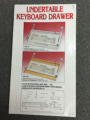 Undertable Keyboard Drawer, model KD-4P Plastic