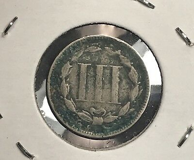 1865 3 Cent Nickel. Collector Coin for your Collection or Set. Free Shipping
