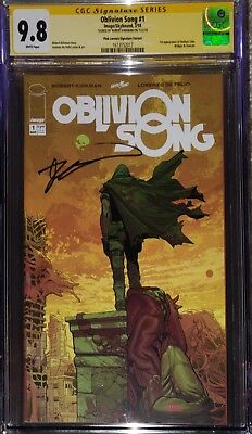 Oblivion Song #1 Pink Signature Variant CGC SS 9.8 signed by Robert Kirkman