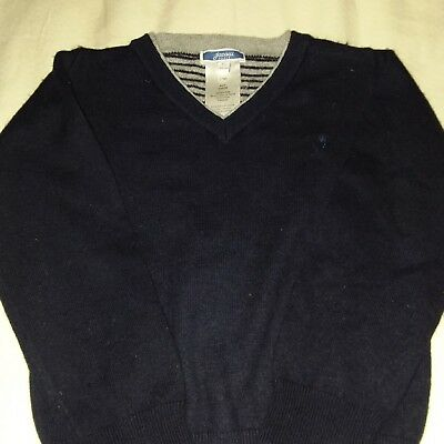 Jacadi 4T Navy Blue cotton with added wool sweater