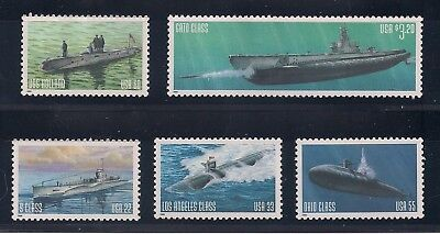 U.s. Navy Submarines - Set Of 5 Different U.s. Postage Stamps - Mint Condition