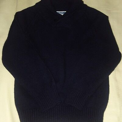 Jacadi Shawl collar with buttons 4T Navy Blue Sweater