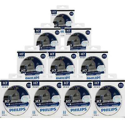 10x Philips WhiteVision 2x H7 12V 55W PX26d + W5W xenon effect Birne