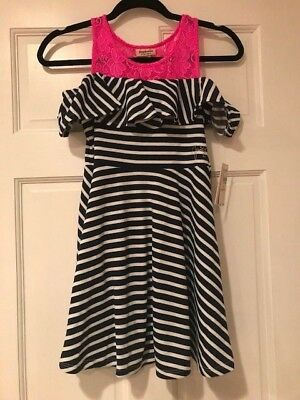 Juicy Couture girls Navy Blue & Pink Size 8/10 Original price $75