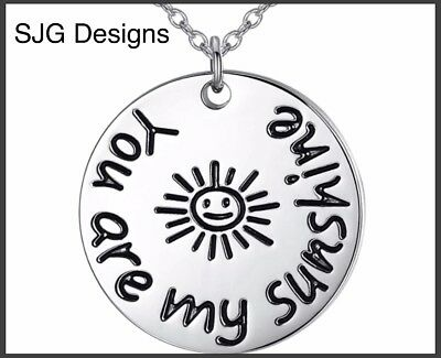 """"""" YOU ARE MY SUNSHINE """"- Pendant- Silver Plated -New"""
