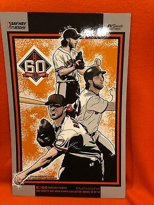 Cheer Card San Francisco SF Giants Authentic Fan Madison Bumgarner New 8/28/18