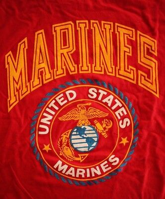 Usmc Us Marine Corps Fitness Eagle Globe & Anchor Red Athletic Pt S/s T-Shirt Xl