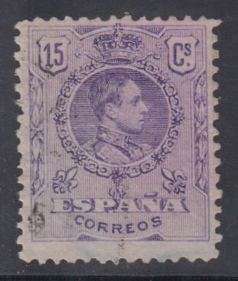 SPAIN (1909/22) USED SPAIN - EDIFIL 270 (15 cts) ALFONSO XIII