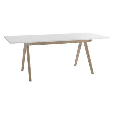 Jerry 4 10 Seat White Extending Dining Kitchen Table 462103 Rrp 450