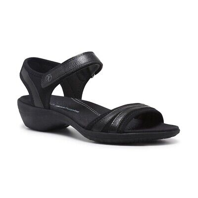 Hush Puppies Athos Black Women's Athletic Sandals With Adjustable Ankle Strap (b