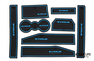 Range Rover Evoque Non-Slip Interior Door Bin Mats, Cup Holder Rubber Pad Set.