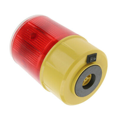 LED Solar Powered Strobe Warning Flashing Flicker Beacon Road Light 3.7V