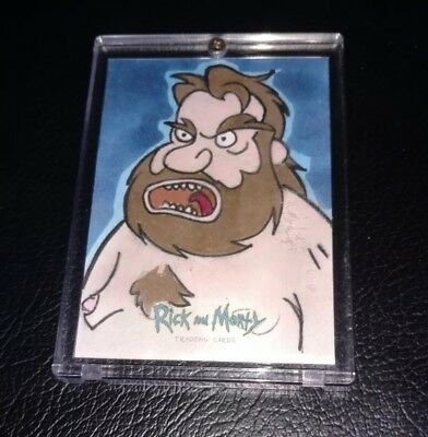 2018 cryptozoic rick and morty sketch card by Jim Mehsling 1/1