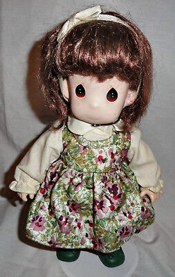 """1994 Precious Moments 12"""" Vinyl Doll """"Pumpkin"""" With Stand"""