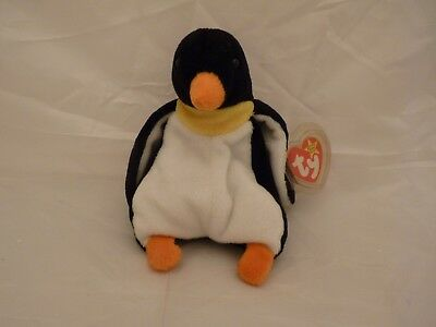 1995 Original Beanie Babies WADDLE The Penguin w/tags (7 inch)
