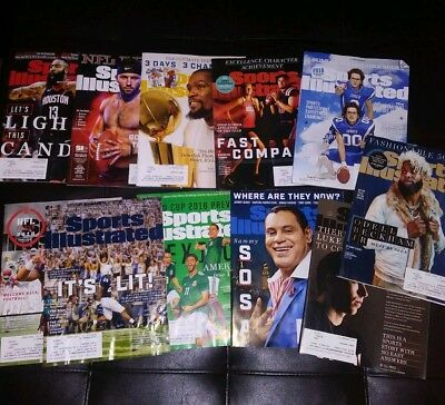 11 Sports Illustrated Magazine lot 2018 issues