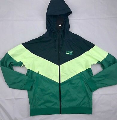e52cf68fb0f8 Nike HD GX Windrunner Full Zip Jacket Green Volt Yellow AJ1396-328 Men s S-
