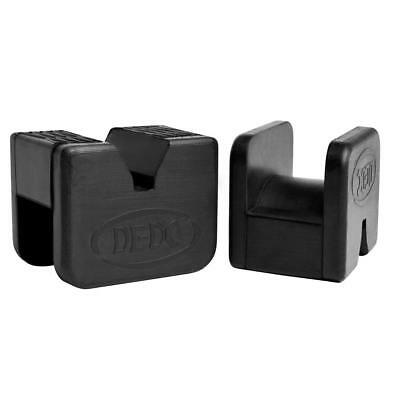 Fit Functional Jack Pad Slotted Rubber Frame Rail Protector Pinch Weld 2Pcs #HN8