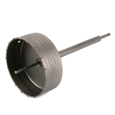 150mm Hole Saw Core Drill Bit & 350mm Round Shank Kit For Cement Bricks Wall New