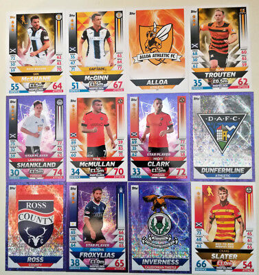 MATCH ATTAX 2018/19 SPFL SCOTTISH # 201 TO 306 CARDS Partick Inverness Morton