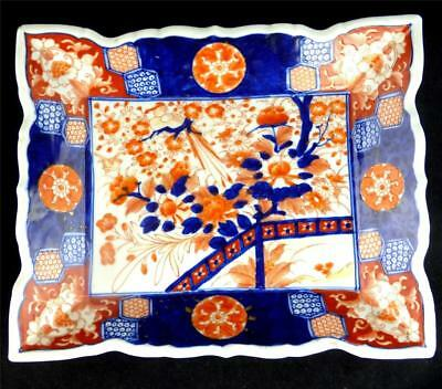 Antique Meiji Japanese Imari Decorated Porcelain Plate Tray