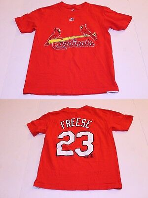 647e2a166 Youth St Louis Cardinals David Freese S Jersey T-Shirt Tee (Red) Majestic