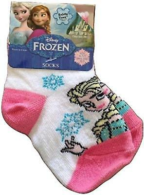 Frozen Elsa Kids Girls Socks Dress up Pink White Size 1-5 Shoe