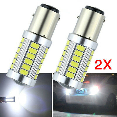 2X Bay15D 1157 P21/2.5W 5630 33 Led Brake Stop Tail Light Canbus Bulb Globe 12V