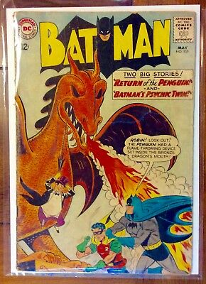 Batman #155 - DC 1963 - FIRST SILVER AGE APPEARANCE OF THE PENGUIN!!  GD/VG