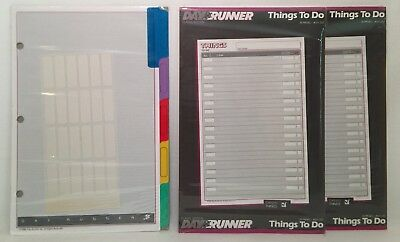 "Genuine Day Runner Refills - Things to Do and Divider Tabs - 5.5"" x 8.5"""