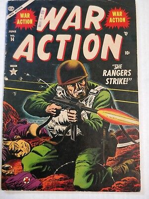 War Action #14  1953 Great Russ Heath Cover