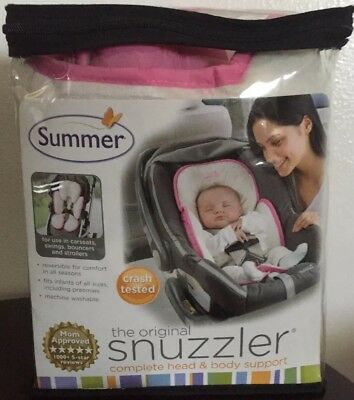 Summer Original Snuzzler Girl Reversible Pink Ivory Car Seat Head Body Support