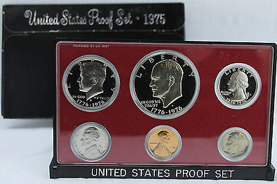 1975 United States Mint Annual 6 Coin Proof Set Original Box