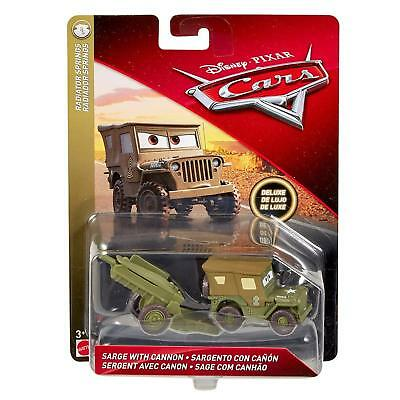 Voiture Disney Pixar Cars Deluxe Sarge Avec Canon  Sarge With Cannon