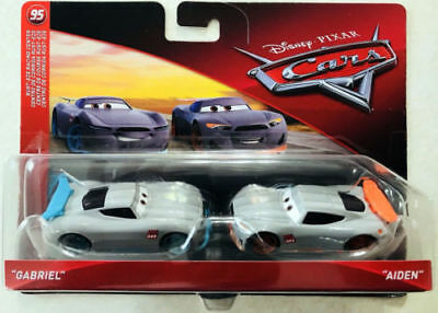 Voiture Disney Pixar Cars Gabriel Aiden 2 Pack Cars 3