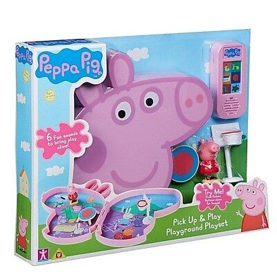 Peppa Pig Pick Up & Play Playset Fun Sound Assorted Kids Christmas Birthday Gift