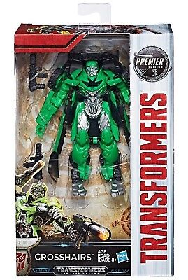 TRANSFORMERS The Last Knight CROSSHAIRS Premier Edition DELUXE CLASS- NEW