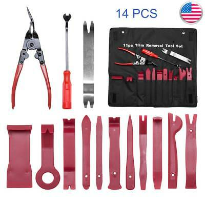 4/12/14 Car Trim Removal Tool Door Interior Panel Molding Upholstery Clip Kit US