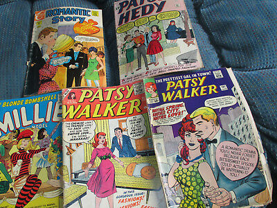 5  Issues  -  Patsy  Walker,   Millie,   Patsy & Hedy,   Romantic  Story    See